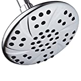 2-Pack of 6 inch Rain Shower Heads by AquaDance High Pressure Premium Chrome Finish Angle Adjustable Easy To Clean Independently Tested to Meet Strict US Quality & Performance Standards