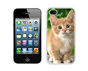 Unique Christmas Brown Fur Cute Cat Iphone 4s,Apple Iphone 4s White TPU Cover Case