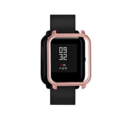 Smart Watch protect case cover,RTYou New Style PC Case Cover Protect Shell For Xiaomi Huami Amazfit Bip Youth Watch (Rose Gold)