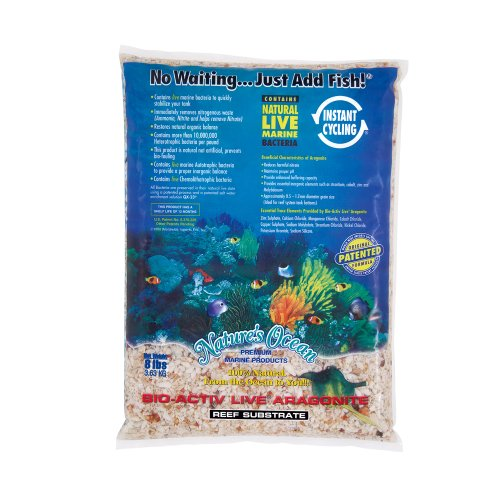Nature's Ocean Bio-Activ Live Aragonite Reef Substrate, 8 lbs by Nature s Ocean
