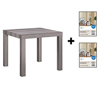 Superb Mainstays Parsons Side End Table Multiple Colors Rustic Oak With Frame Machost Co Dining Chair Design Ideas Machostcouk