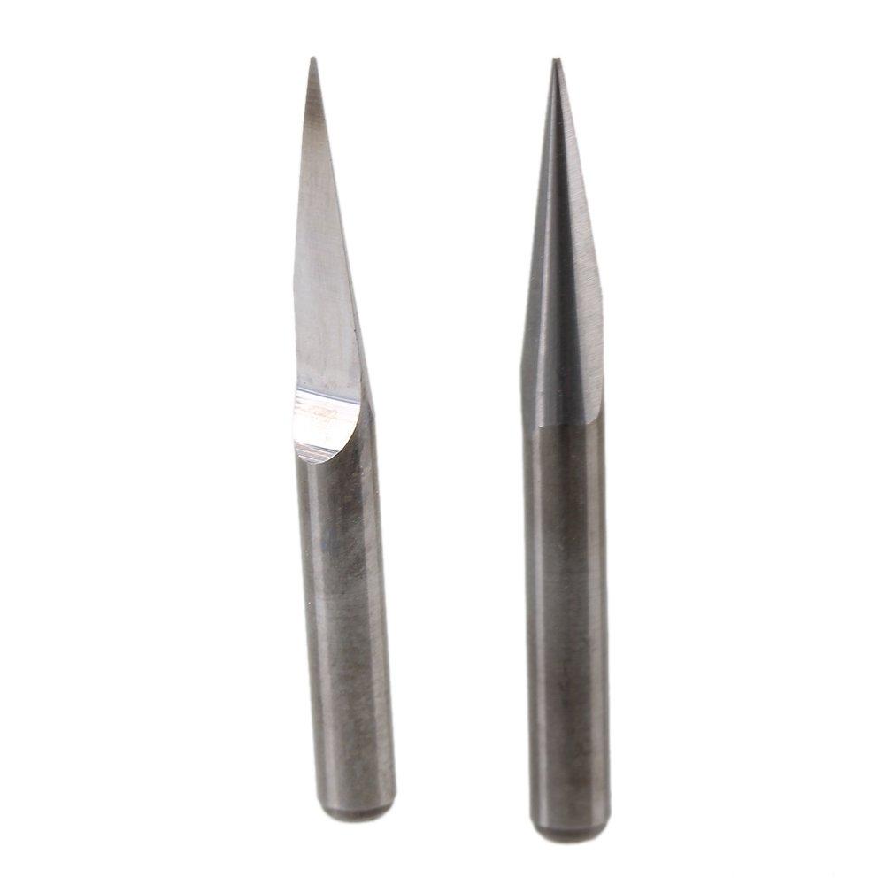 US Stock 10pcs Carbide PCB Engraving Bits CNC Router Tool 20 degrees 0.4mm