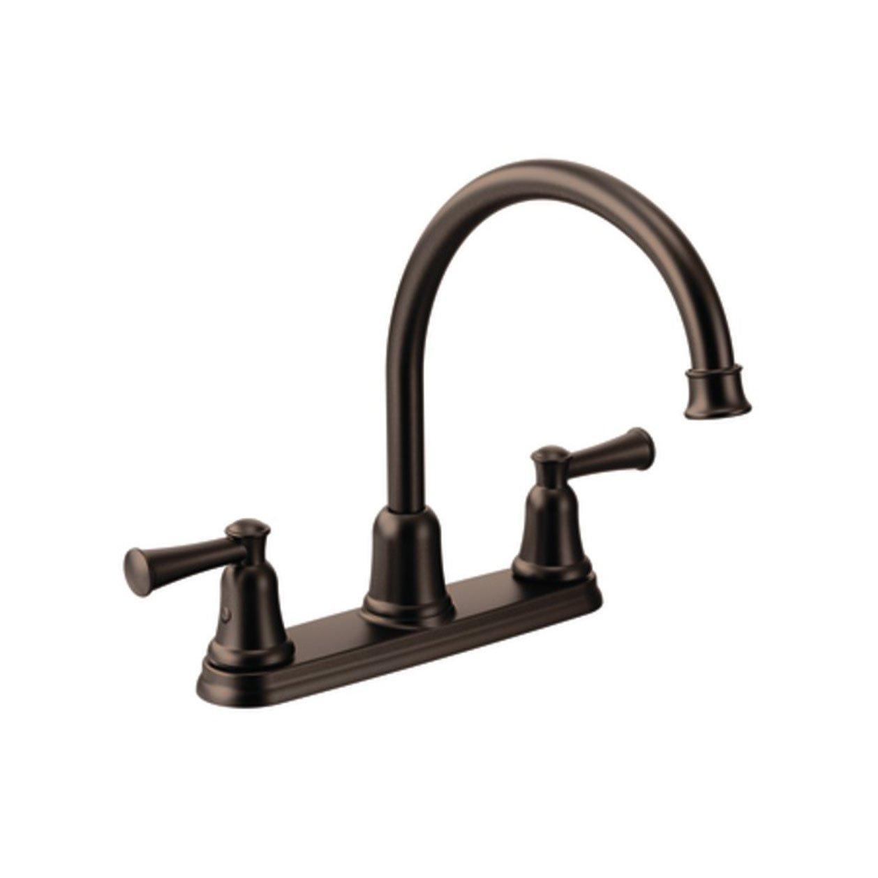 Cleveland Faucets CA41611OWB Capstone High-Arc Spout Two-Handle Kitchen Faucet, Old World Bronze