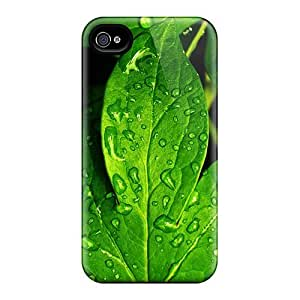 New Arrival Leaf With Dew Closeup EzZWLeM4212hkPKH Case Cover/ 4/4s Iphone Case