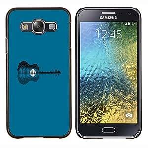 KLONGSHOP // Cubierta de piel con cierre a presión Shell trasero duro de goma Protección Caso - Extracto de la guitarra - Samsung Galaxy E5 E500 //