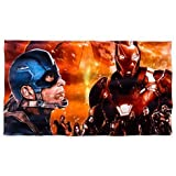 DISNEY STORE MARVEL CAPTAIN AMERICA CIVIL WAR BEACH TOWEL ~ IRON MAN ~ 2016