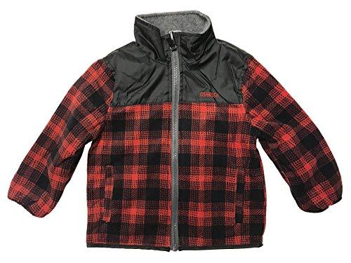 Osh Kosh Toddler Boys Reversible Fleece Buffalo Plaid Coat (5)