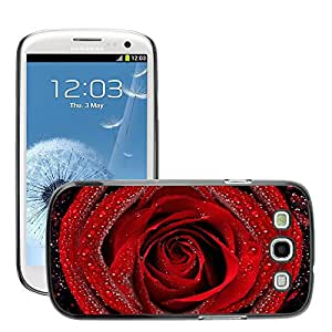Super Stellar Slim PC Hard Case Cover Skin Armor Shell Protection // M00047682 on rose red aero dew macro // Samsung Galaxy S3 i9300