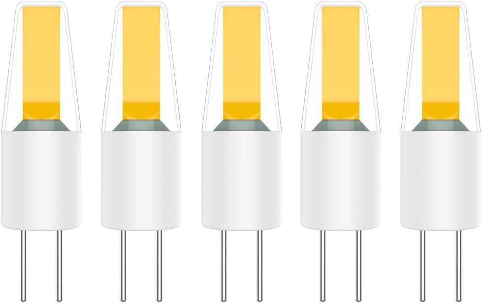 5X G4 LED Bombillas 2W Lámpara Bombillas Blanco Cálido 3000K COB ...