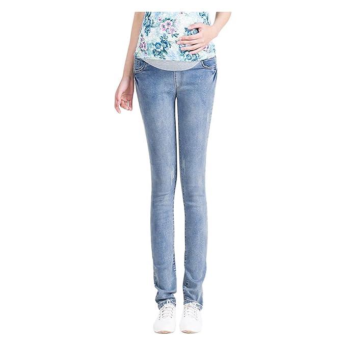 a0143cac5 Poonkuos Maternidad Pantalon Embarazadas Jeans - Embarazadas Primavera  Verano otoño Circunferencia de Cintura Ajustable Maternidad Pantalones  Elástico  ...