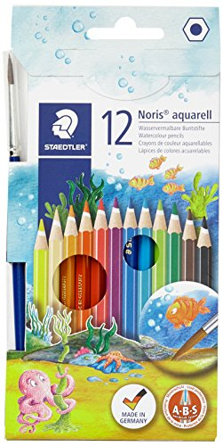 Staedtler Watercolor Pencils, Box of 12 Colors (14410NC12)
