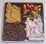 Scott's Cakes Large 4-Pack Peanut Brittle, Dark Pretzels, Salt Water Taffy, & Assorted Jelly Beans