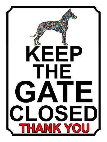 ゲートを閉じたままにする 金属板ブリキ看板注意サイン情報サイン金属安全サイン警告サイン表示パネル