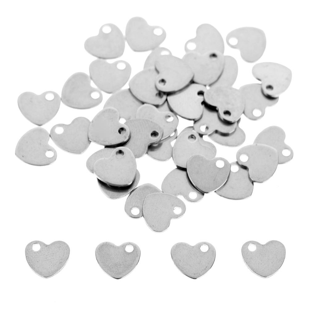 Demiawaking 50Pcs Jewellery Making Pendant Charms Stainless Steel Butterfly Jewellery Findings for DIY Bracelet Necklace Jewellery Making Crafting