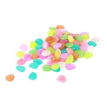 Piedras luminosas para decoración de acuario, jardines, etc, 100 unidades.: Amazon.es: Hogar