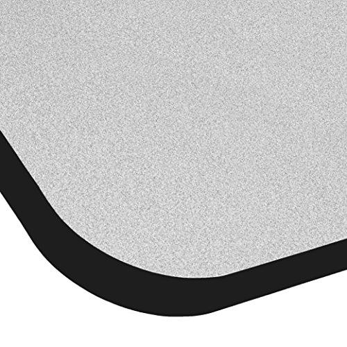ECR4Kids T-Mold 24'' x 72'' Rectangular Activity School Table, Toddler Legs w/ Ball Glides, Adjustable Height 15-23 inch (Grey/Black) by ECR4Kids (Image #1)