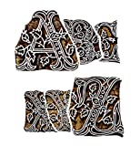 BARREL CRAFTS GALAXY Wooden Blocks Printing Stapms A to Z (Set of 26) Hand-Carved for Saree Border Making Pottery Crafts Textile Printing