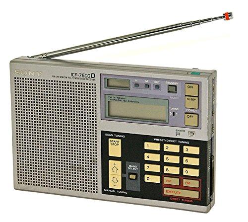 SONY ソニー ICF-7600D FM/LW/MW/SW PLL SYNTHESIZED RECEIVER   B076J5HLFD