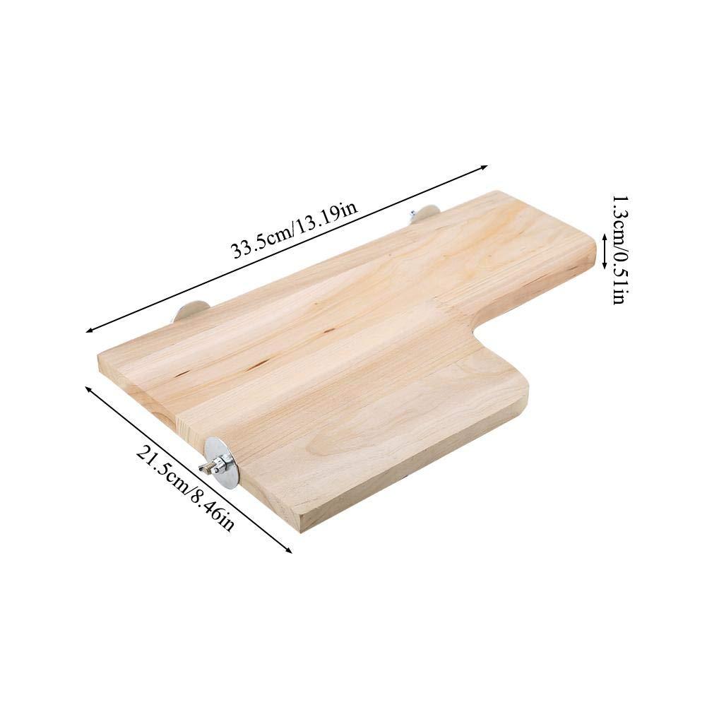 Piattaforma per criceti hamster springboard stand in legno naturale a forma di l salto di legno saltando in legno giocattolo rampicante strumento di esercizio fisico per cincilla scoiattolo gerbil