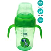 Mee Mee 210ml 2 in 1 Spout and Straw Sipper Cup (Green)