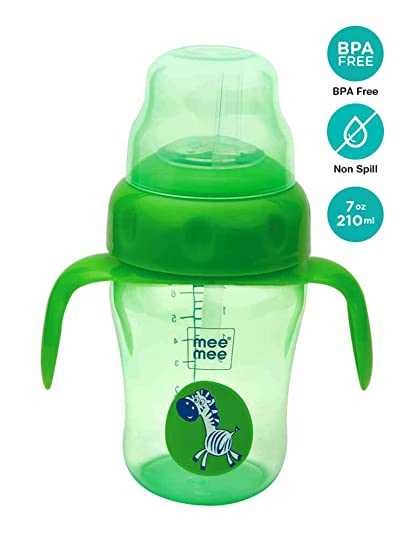 a7522ebfaa4 Buy Mee Mee 210ml 2 in 1 Spout and Straw Sipper Cup (Green) Online at Low  Prices in India - Amazon.in