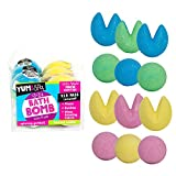 Yum Spa, Bath Bomb, Gumball & Fortune Cookie Shaped, Tutti Frutti Scented, 60 g, Pack of 12