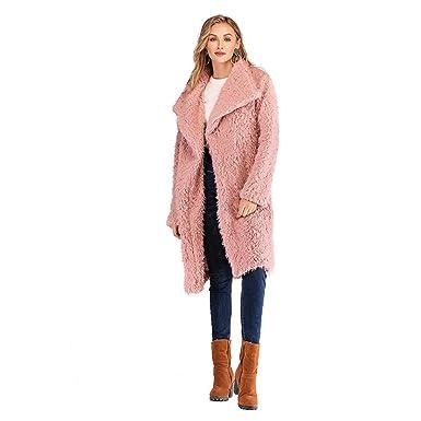 Sijux Dama De Mujer Polo Cuello Abrigo De Lana Famale Mid-Long ...