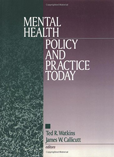 Mental Health Policy and Practice Today (Perspectives on Psychotherapy)