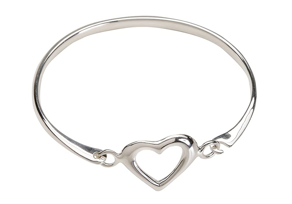 Amazon.com  Children s Sterling Silver Open Heart Bangle Bracelet for Girls  (6-13 Years)  Jewelry 600a17899