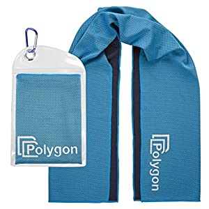 Polygon Cooling Towel, Microfiber Ice Sports Towel, Instant Chilling Neck Wrap for Sports, Workout, Running, Hiking…