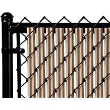 4ft Beige Ridged Slats for Chain Link Fence