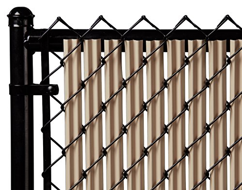 pot Single Wall Bottom Locking Privacy Slat for 3', 4', 5', 6', 7' and 8' Chain Link Fence (6ft, Beige) ()