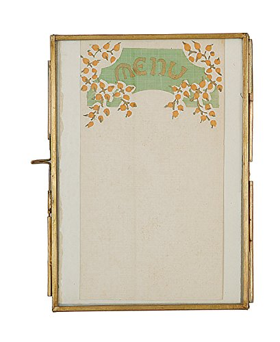 creative-co-op-brass-and-glass-frame-5-by-7-inch