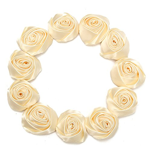 Flowers Wedding Applique Headbands Champagne