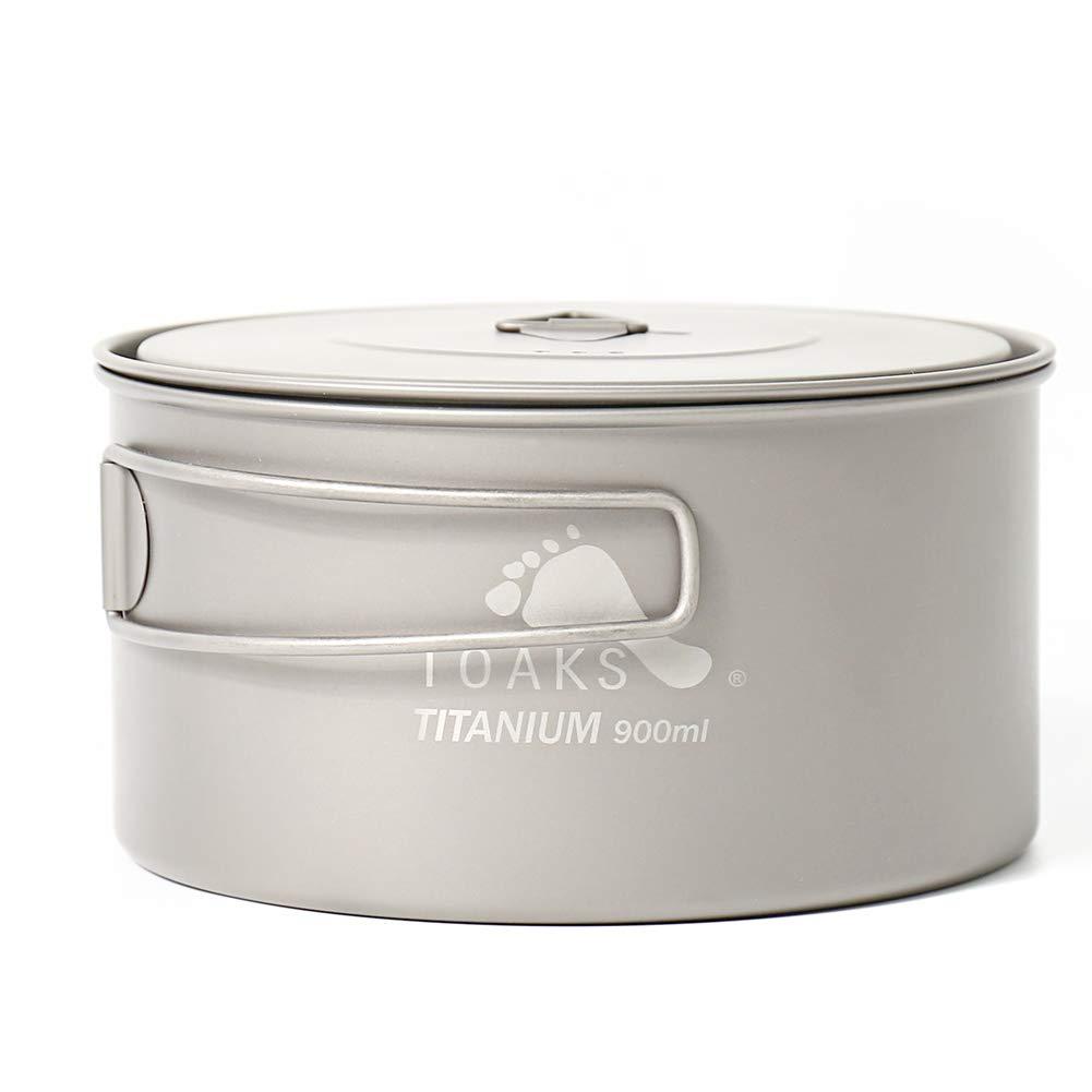 Cacerola de campamento de Toaks, titanio puro, ideal para el aire libre, puede usarse como taza, cuenco o cacerola, 900ml: Amazon.es: Deportes y aire libre