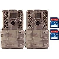 Moultrie A30i 12MP 60 Video No Glow IR Trail Camera + 16GB SD Card (2 Each)