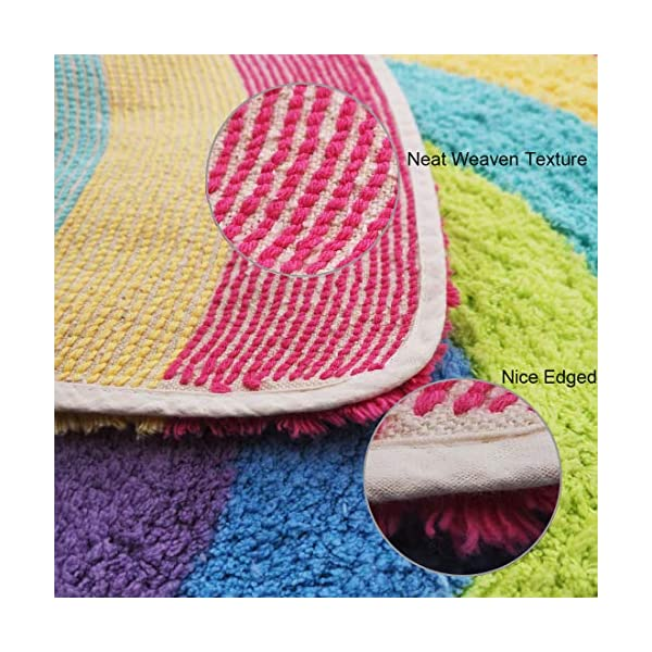 Habudda Soft Cotton Cute Kids Nursery Door Mat Area Rugs Rainbow Door Mat Luxury Plush Kids Game Play Carpet Door Bath Rugs Baby Shower Gift 80CM50CM (Rainbow)