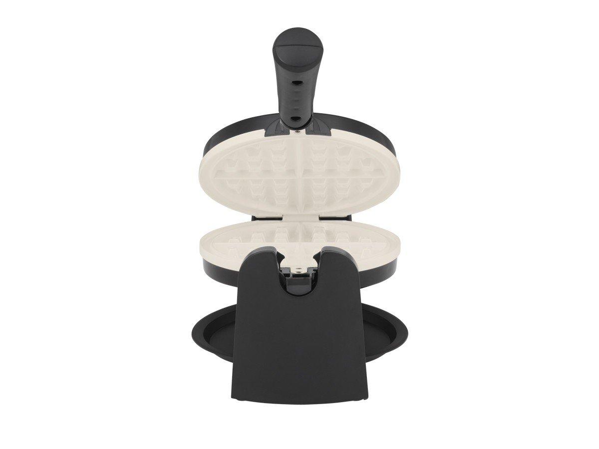 Oster Titanium-Infused DuraCeramic Flip Waffle Maker, Black CKSTWFBF10W-TECO