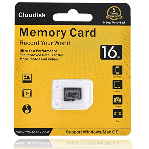 K-byte Memory - Cloudisk Class10 Memory Card 16GB Micro SD Cards Extreme Pro MicroSD Card Professional 1080P Full HD Video Shooting TF Flash