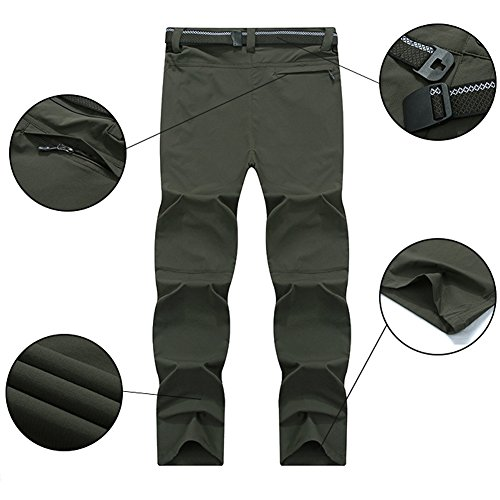LHHMZ Men/'s Hiking Trousers Windproof Comfortable Outdoor Trousers Breathable Climbing Pants Walking Trousers