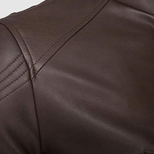 Automne Veste Motard Peau Cuir Chaud De En Hiver Blouson Manteau Vêtements Hommes aqxwYa