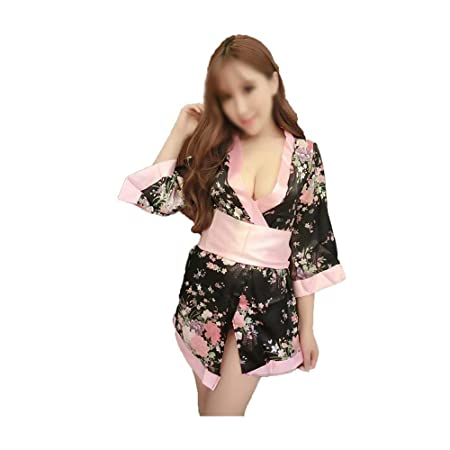 Kevinliu Ropa Interior Sexy Mujer Japonesa Sexy Kimono Traje de ...