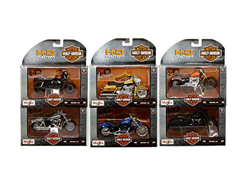 New DIECAST Toys CAR MAISTO 1:18 H-D Customs - Harley-Davidson Motorcycles Series 36 Assortment Set of 6 31360-36