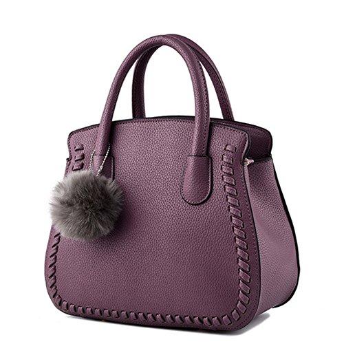 Unknown - Bolso mochila para mujer granate morado1
