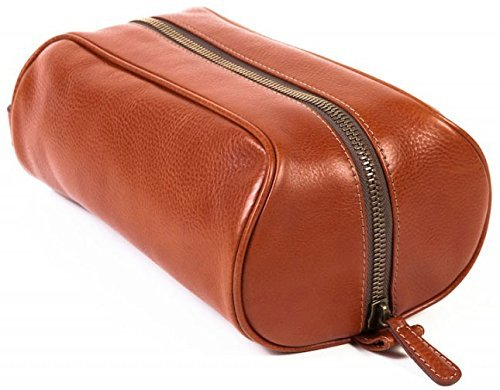 Bosca Men's Correspondent - Medium Softpak Kit Chestnut Luggage Accessory by Bosca