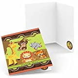Funfari - Fun Safari Jungle - Baby Shower or Birthday Party Thank You Cards - Set of 24