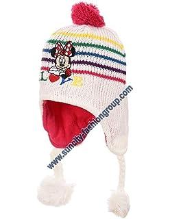 e49a8605dfcd Bonnet péruvien fourrure bébé fille Hello kitty Rose et Ecru de 9 à ...