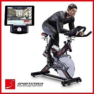 Sportstech Profi Indoor Cycle SX400 mit Smartphone App Steuerung + Google...