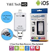 128 GB i-Flash Device HD Memory Data Storage Device OTG for iPhone 7 plus / 7 / 6s / 6 / 5s / 5 iPad iPod Samsung LG IOS Android (3 in 1)