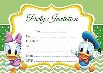 10 X Baby Minnie Mickey Maus Donald Duck Daisy Kinder Geburtstag